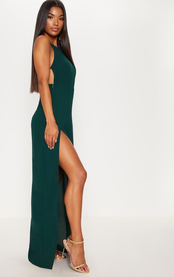 Green Strappy Back Detail Chiffon Maxi Dress 4