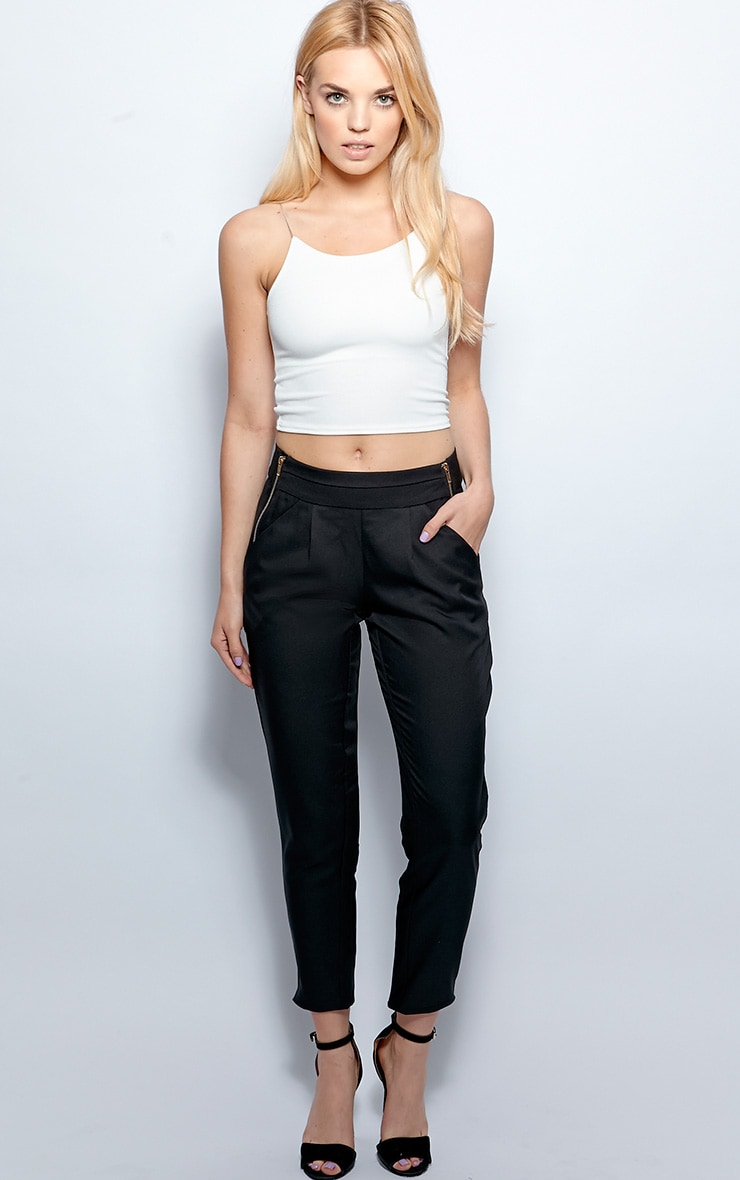 Breanna Black Tailored Linen Trousers 5