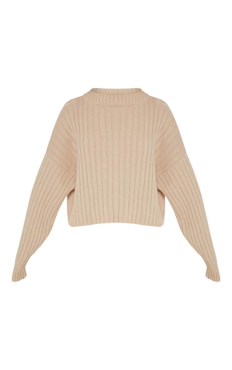 Stone Ribbed Knitted Oversized Jumper  3