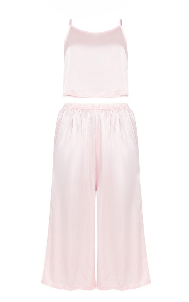 Light Pink Culotte And Cami PJ Set 3