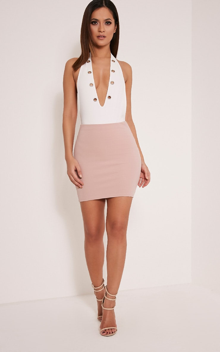 Milah Nude Scuba Mini Skirt 6