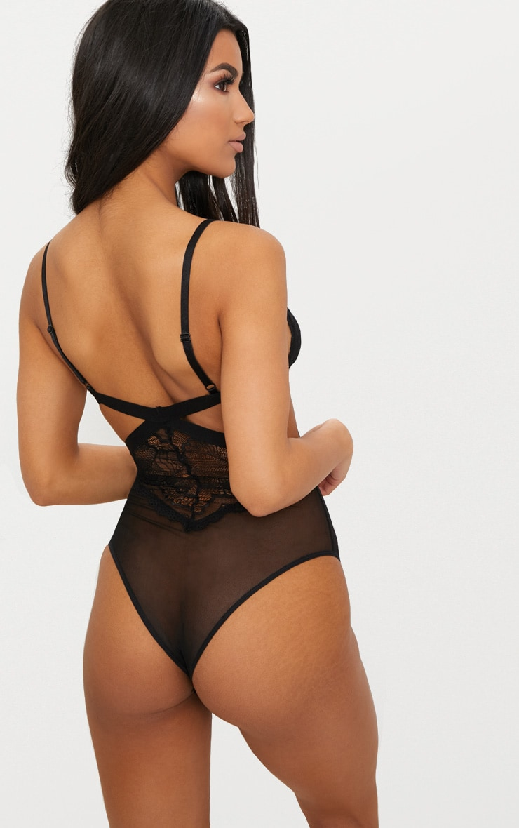 Black Cut Out Lace Body 3