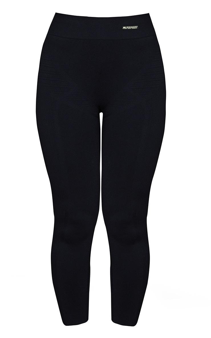 Black Seamless High Waist Gym Leggings 5