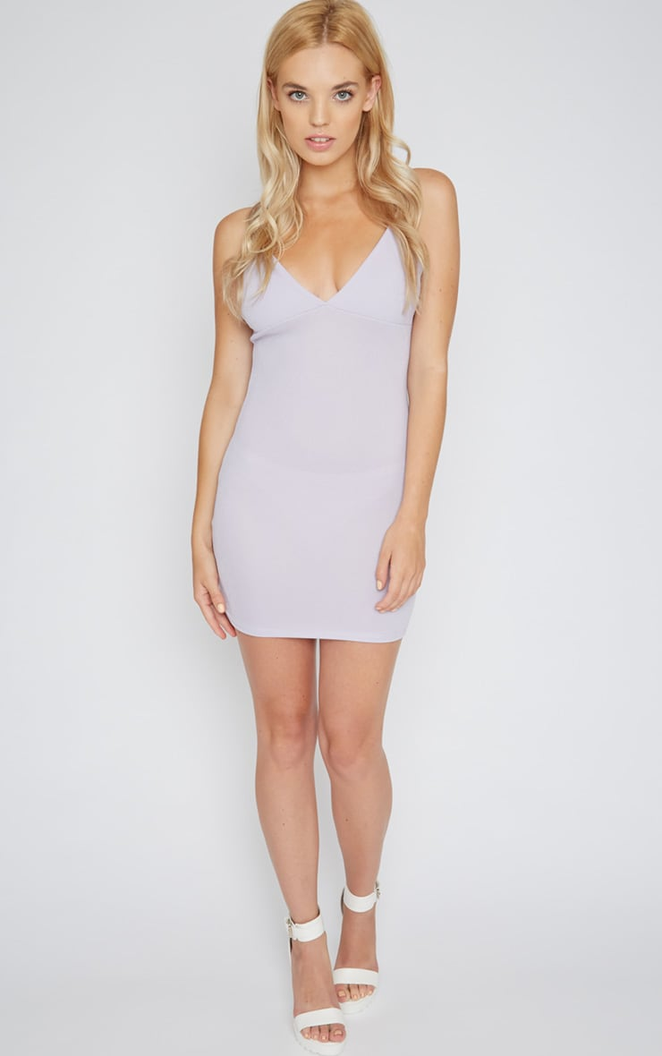 Mona Lilac Strappy Mini Dress  3