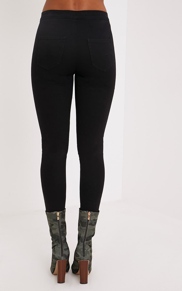 Black High Rise Skinny Jeans  4