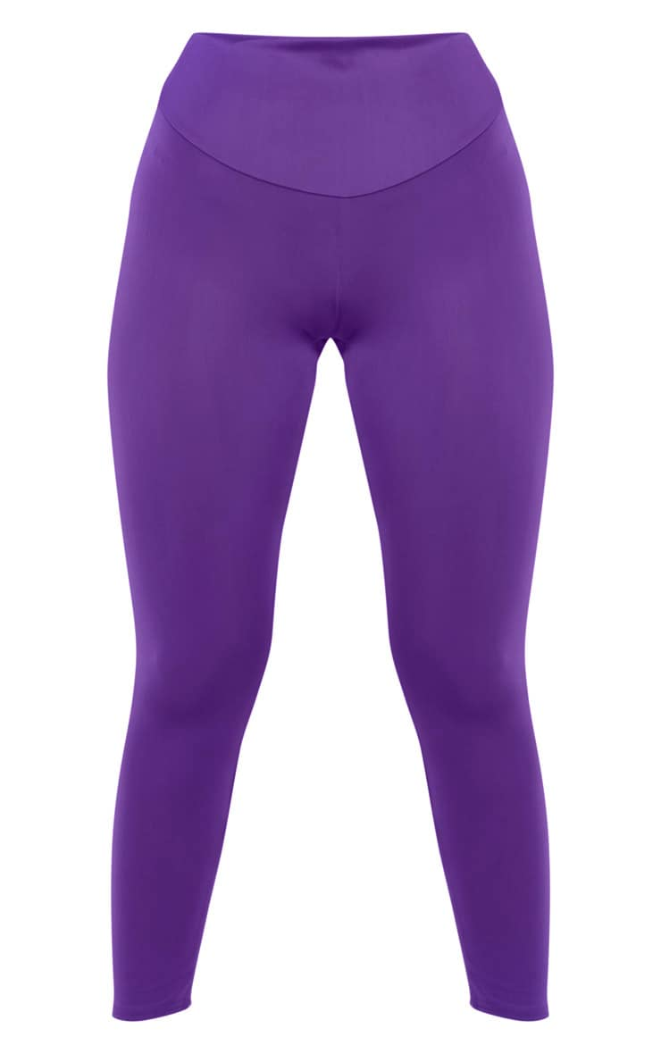 PRETTYLITTLETHING Purple High Waisted Gym Legging 3
