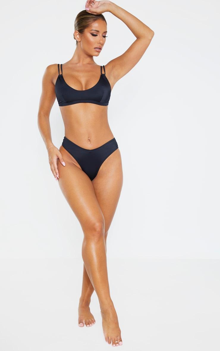 Black Recycled Fabric Mix & Match Bikini Bottom 4