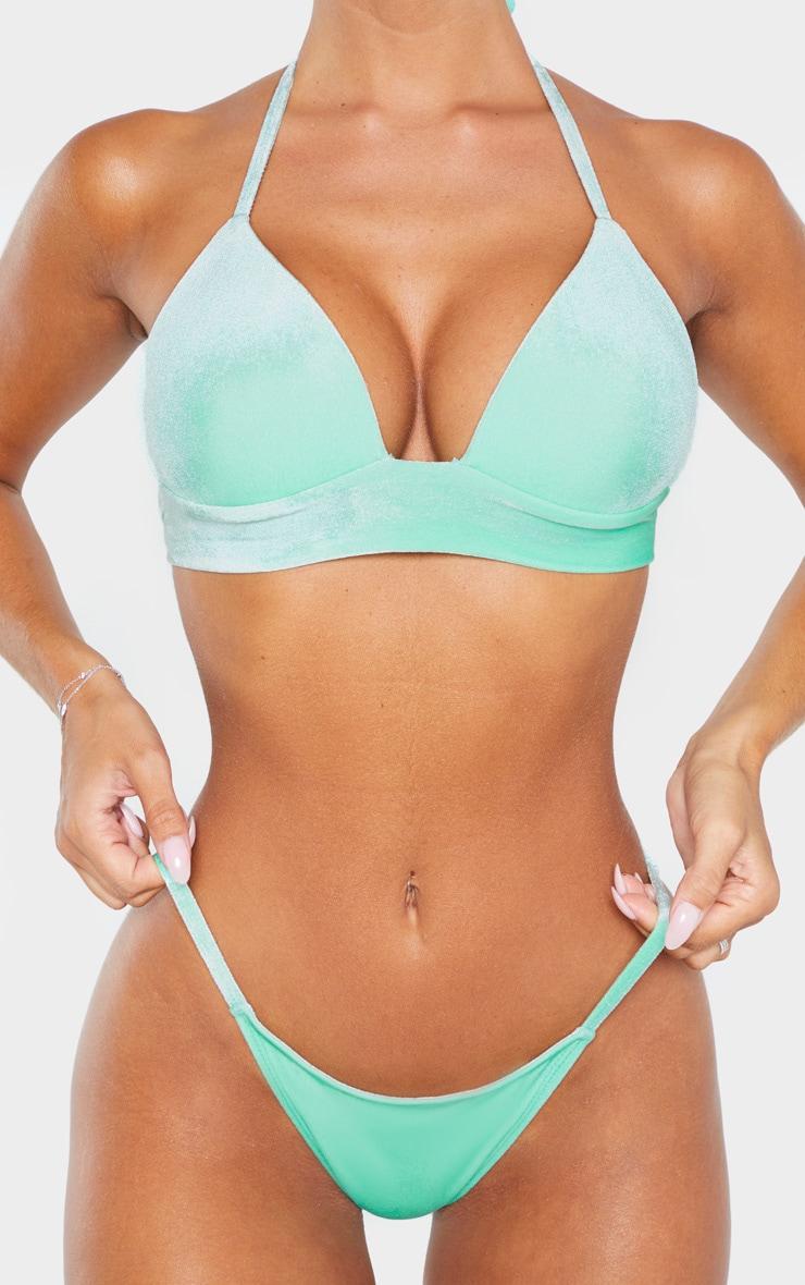 Green Velvet Tanga Bikini Bottom 5
