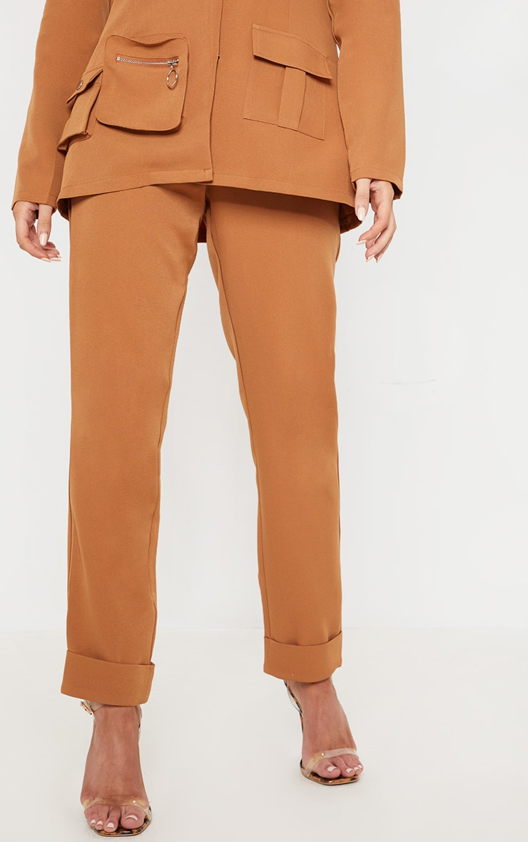 Tan Straight Leg Trouser 2