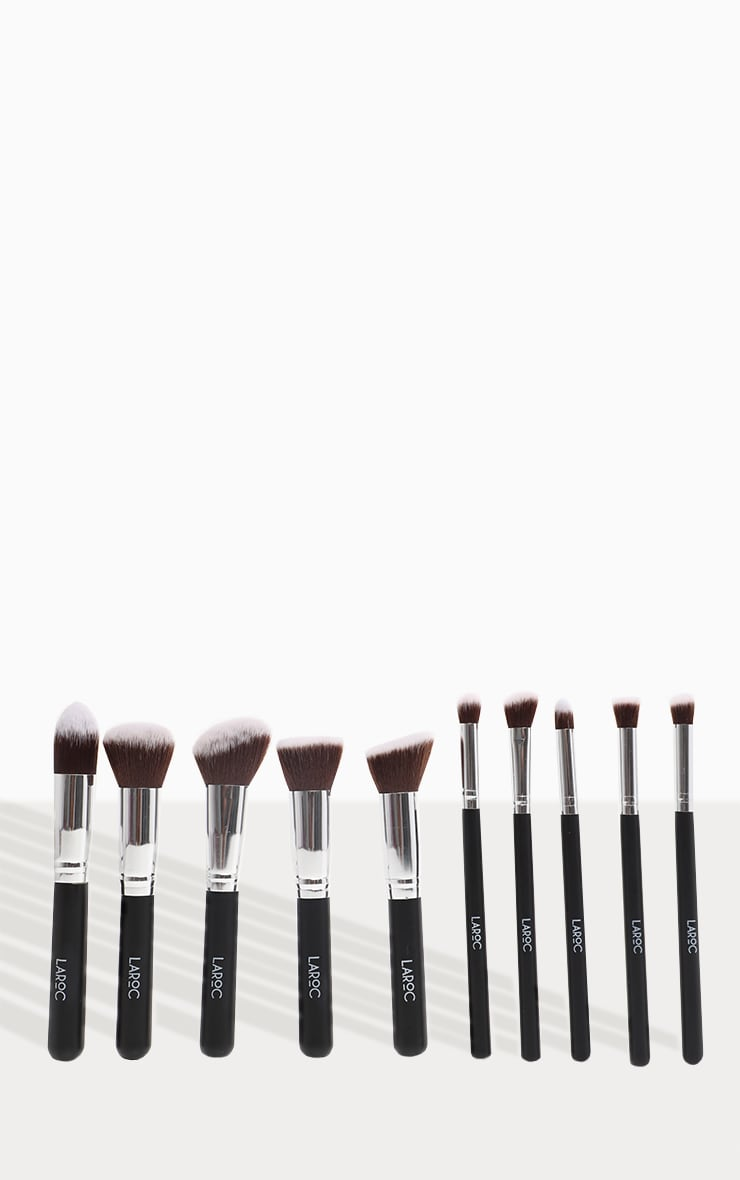 10 Piece Kabuki Makeup Brush Set 2