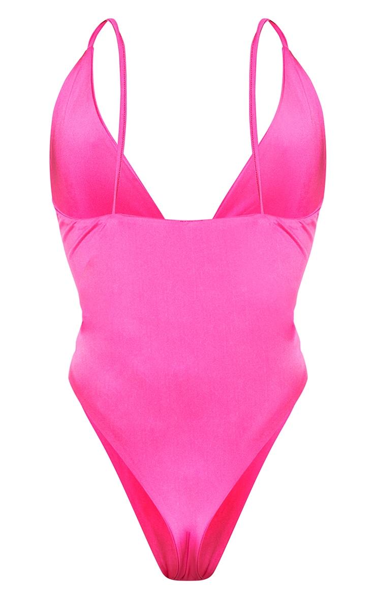 Pink Plunge Twist Ring Swimsuit 6