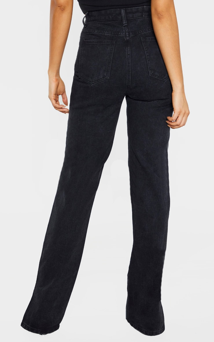 Tall Black Split Hem Jeans 4