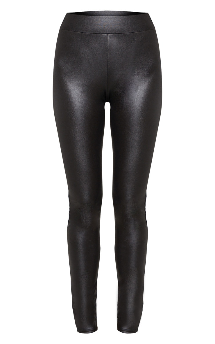 Tall Black Wet Look Skinny Trouser 3