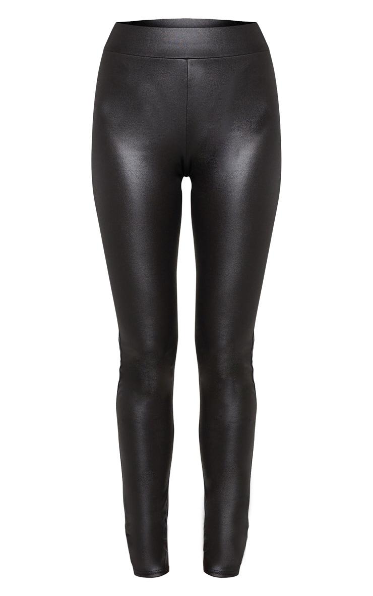 Tall Black Wet Look Skinny Pants 3