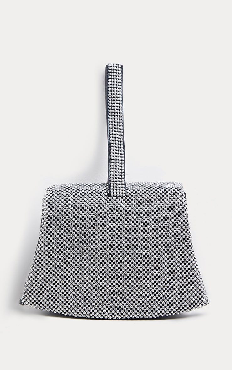 Silver Diamante Buckle Mini Bag 3