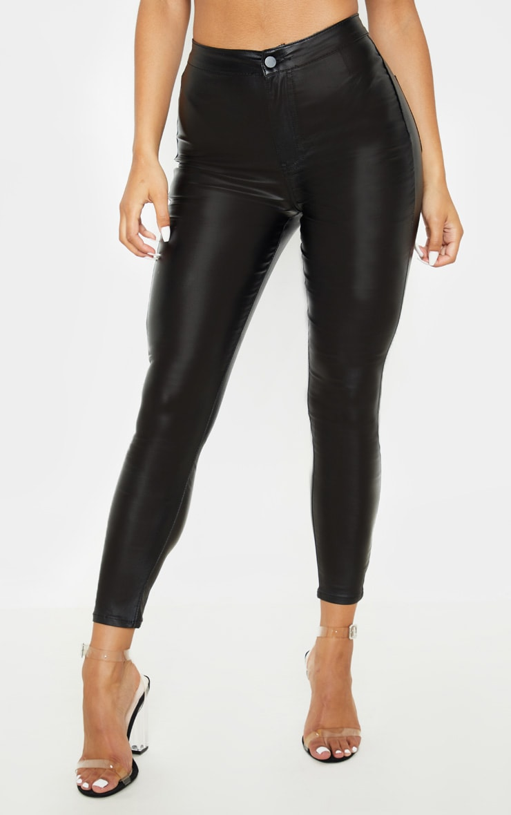 Coated Black Skinny Jeans  2