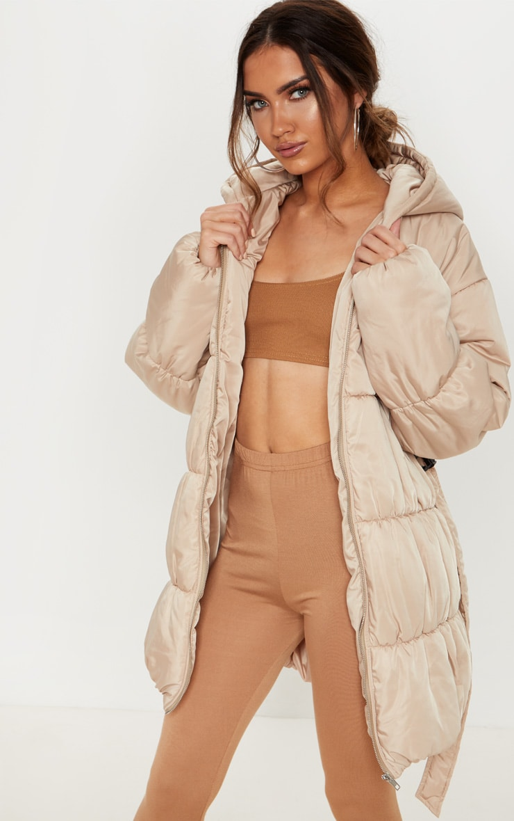 Stone Belted Puffer Jacket 4