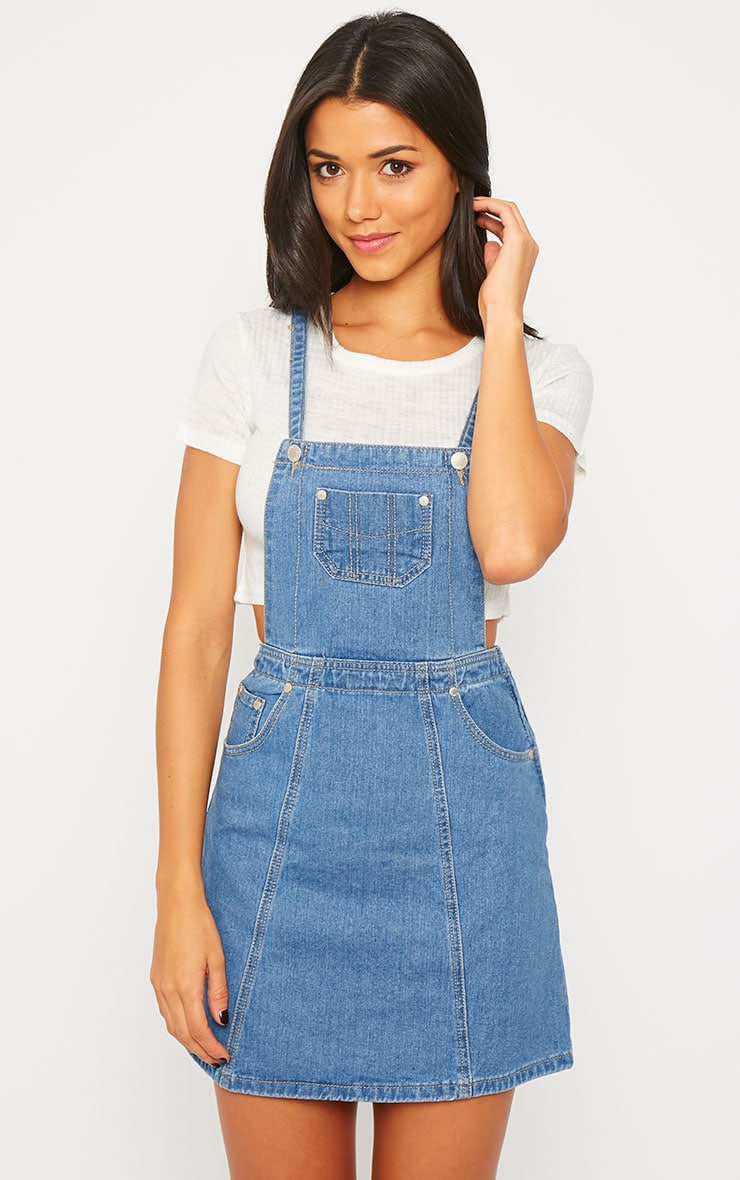 Alexa Denim Pinafore Dress 5
