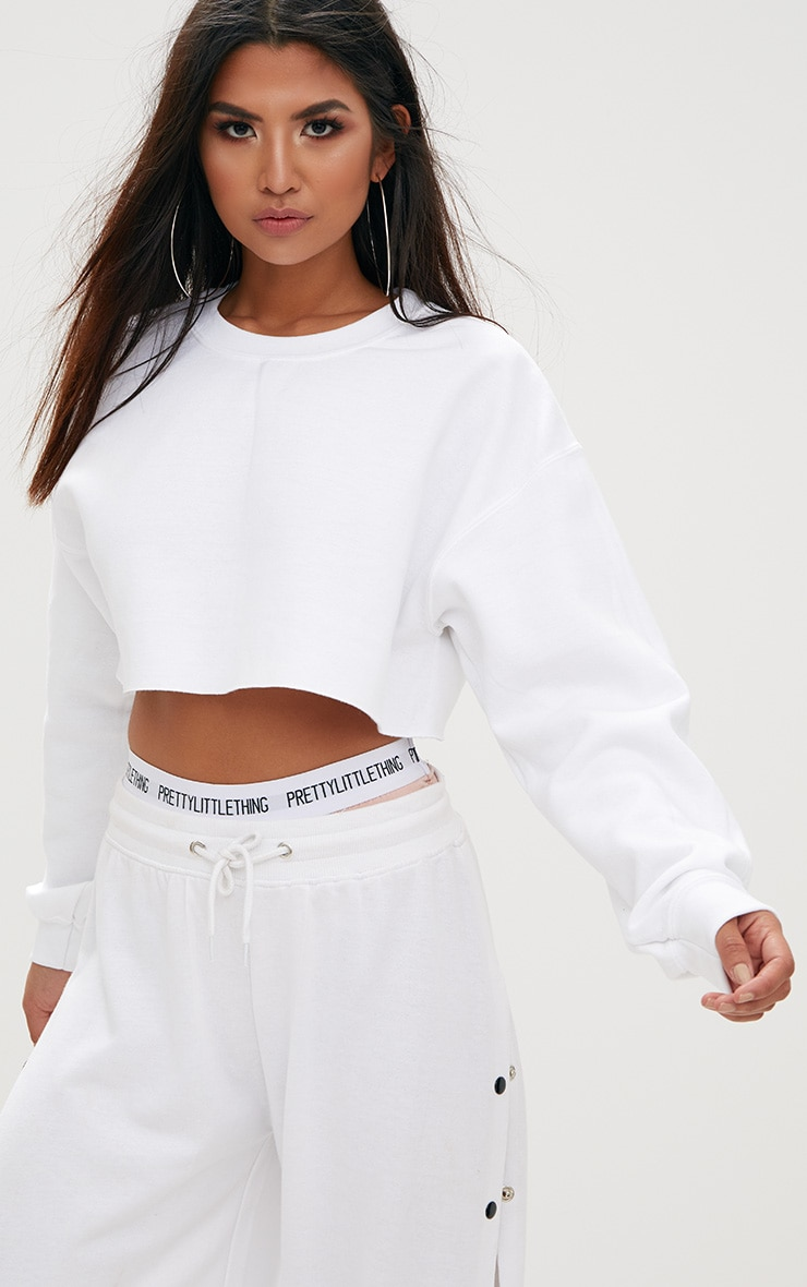 White Ultimate Cropped Sweater 1