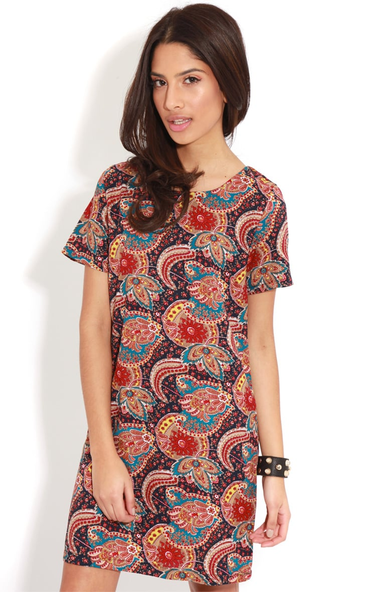 Nila Navy Paisley Shift Dress 4