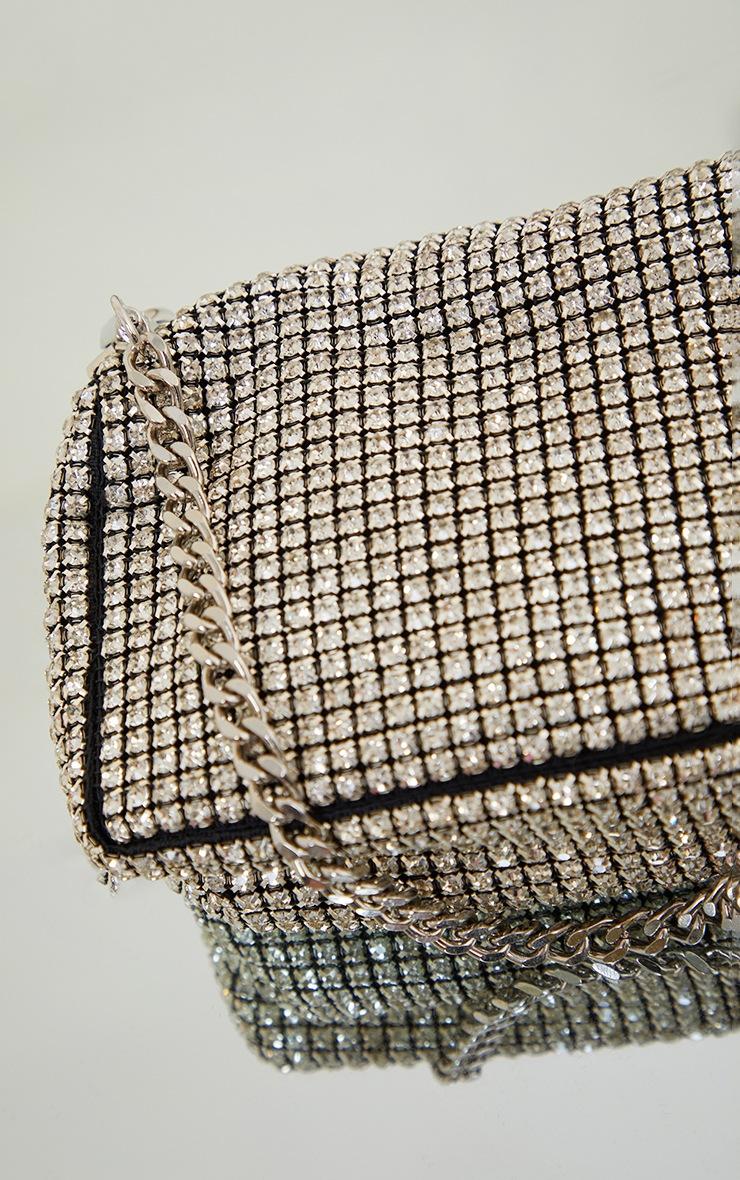 Silver Diamante Shoulder Bag 4