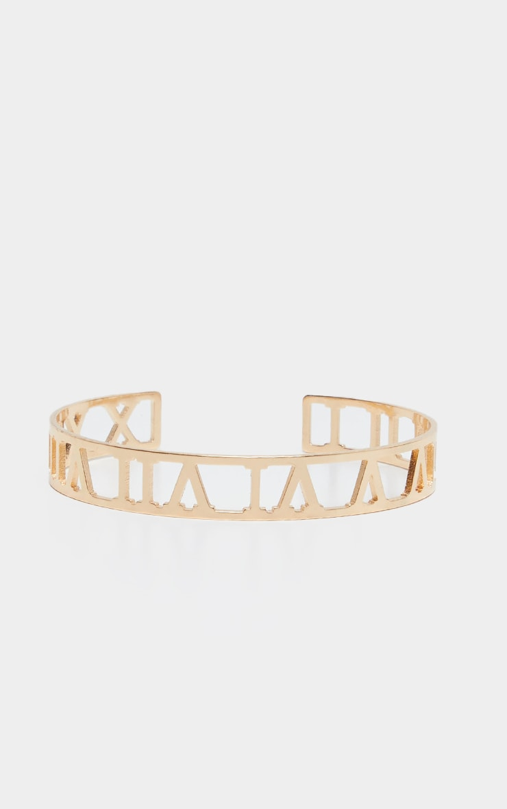 Gold Numeral Cut Out Bracelet 2