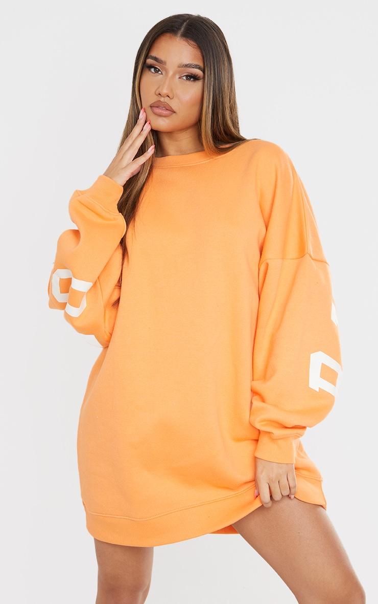 Tangerine Buffalo New York Graphic Sweatshirt Dress 2