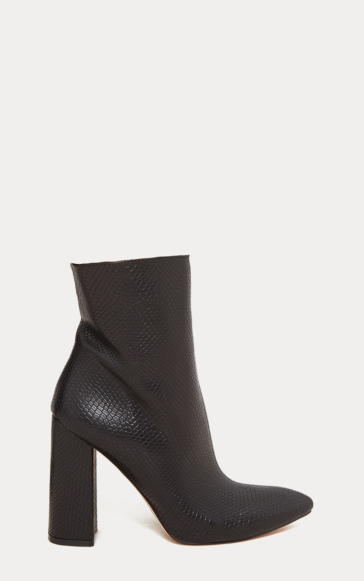 Black High Point Ankle Boot 4