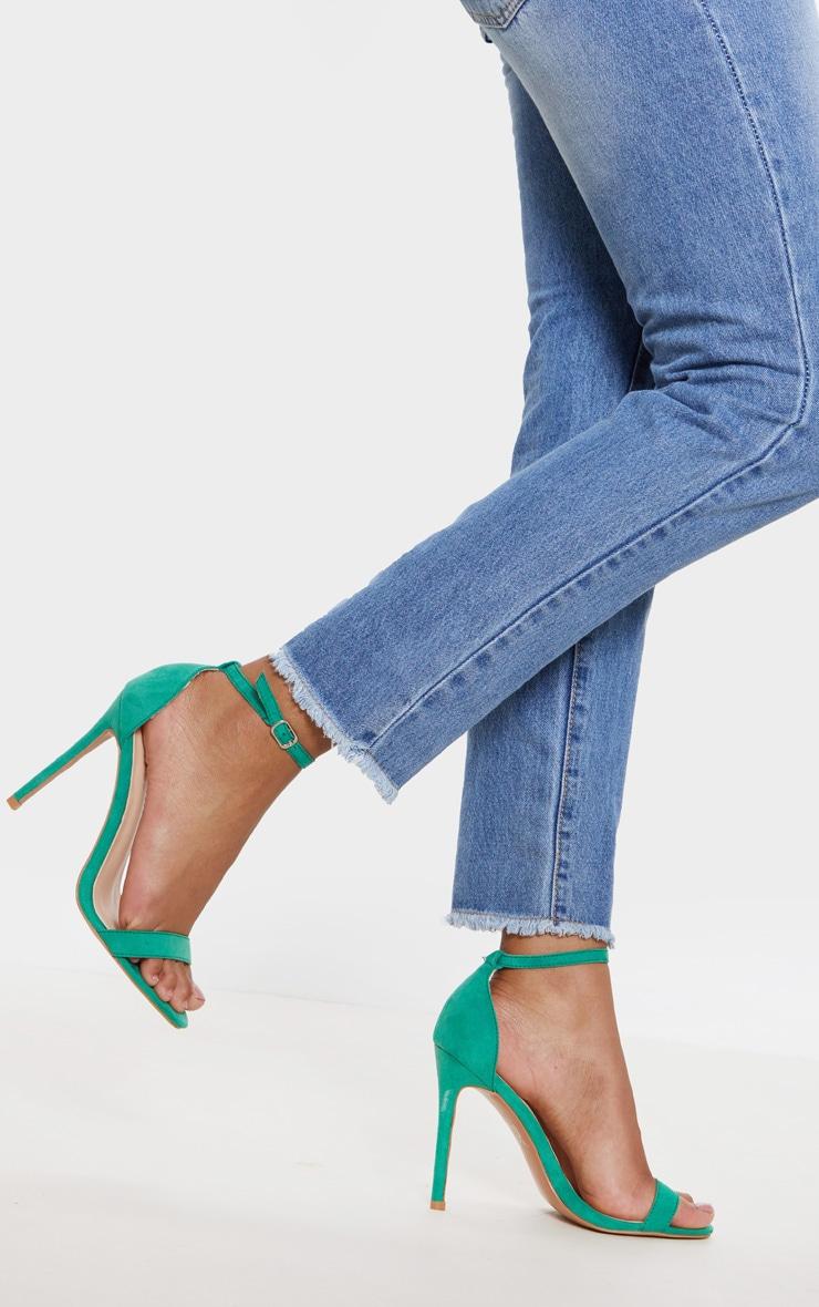 Green Clover Strap Heeled Sandal 2