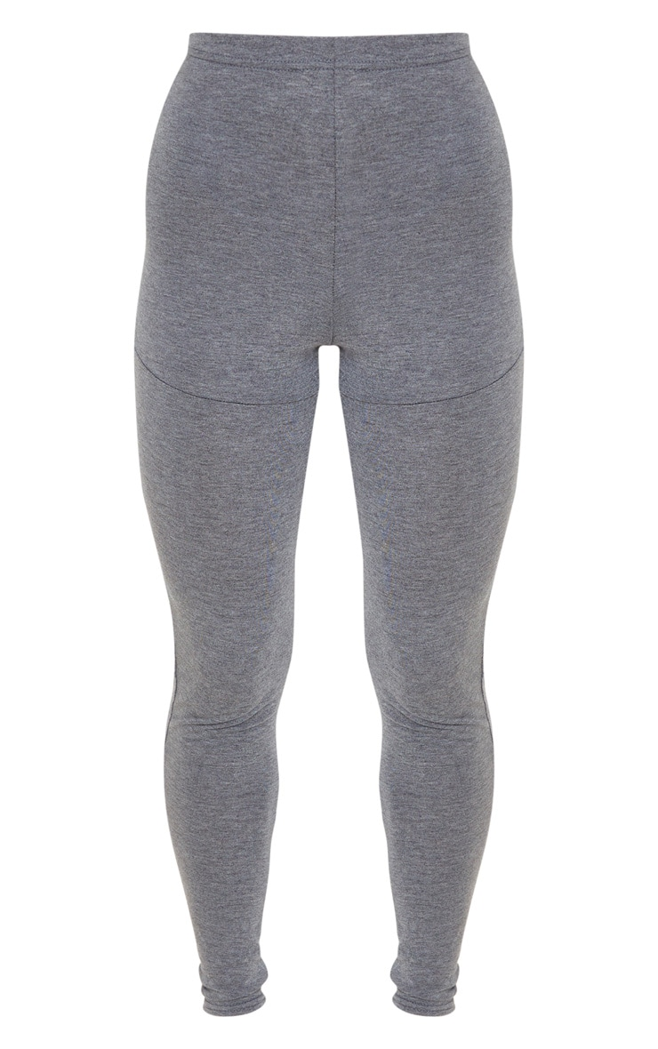 Charcoal Grey Jersey Seam Detail Legging 3