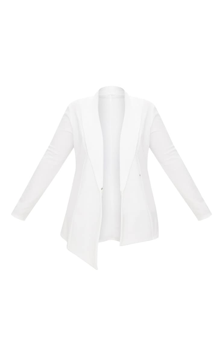 Plus White Wrap Detail Blazer 3