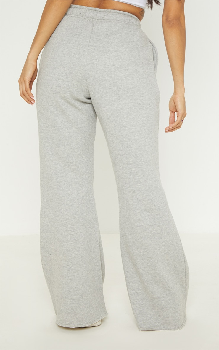 Grey Drawstring Waist Flare Leg Sweat Jogger 4