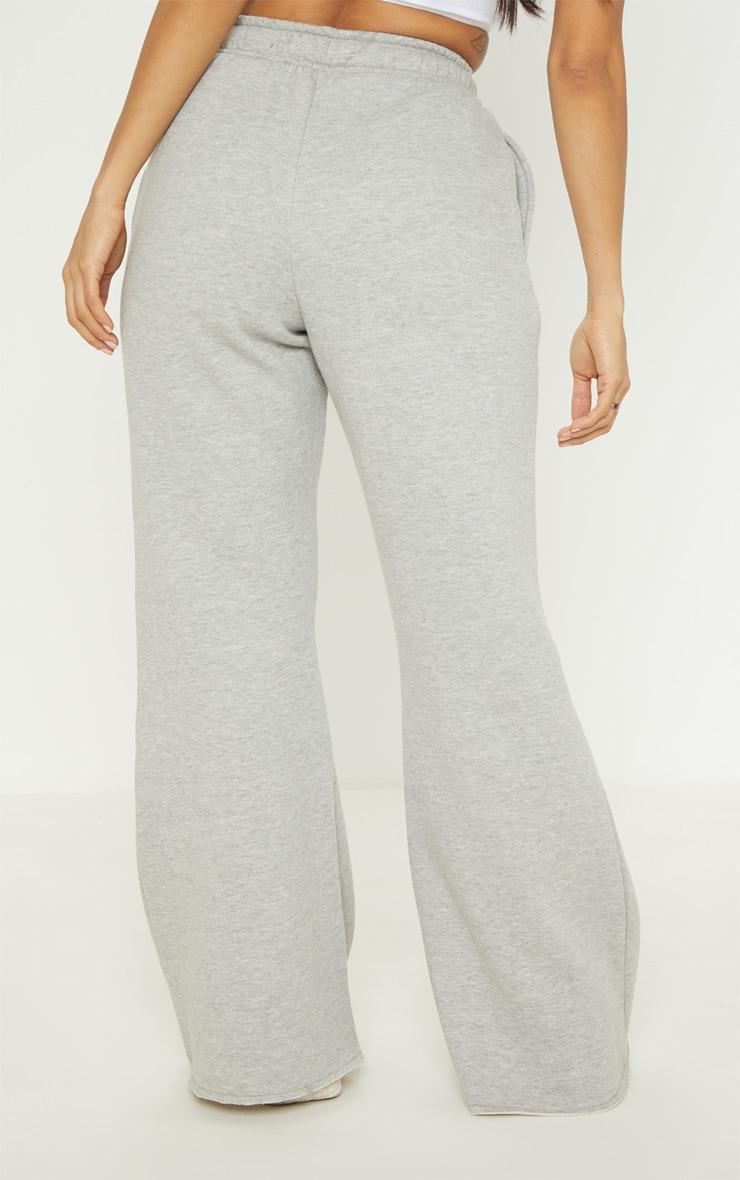 Grey Drawstring Waist Flare Leg Sweat Track Pants 4