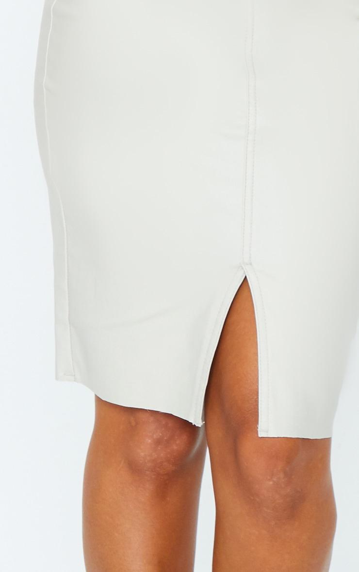 Stone Coated Denim Midi Skirt 5