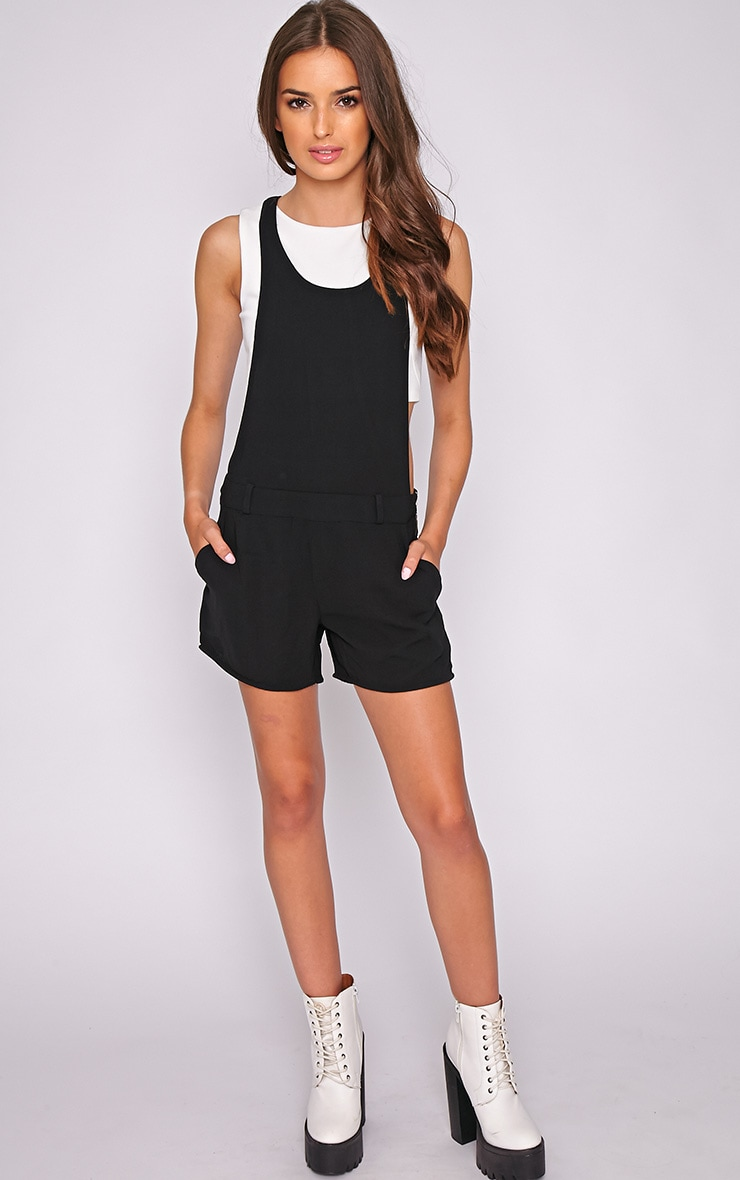 Willow Black Zip Detail Playsuit -L 3