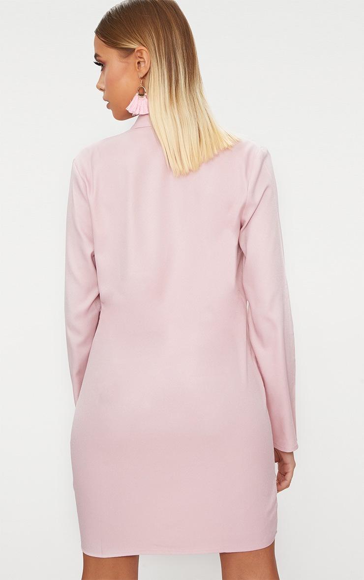 Dusty Pink Oversized Blazer Shift Dress 2