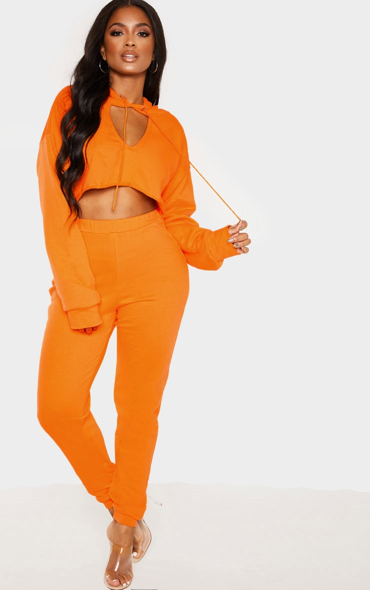 Shape Bright Orange Elastic Bottom Joggers 1