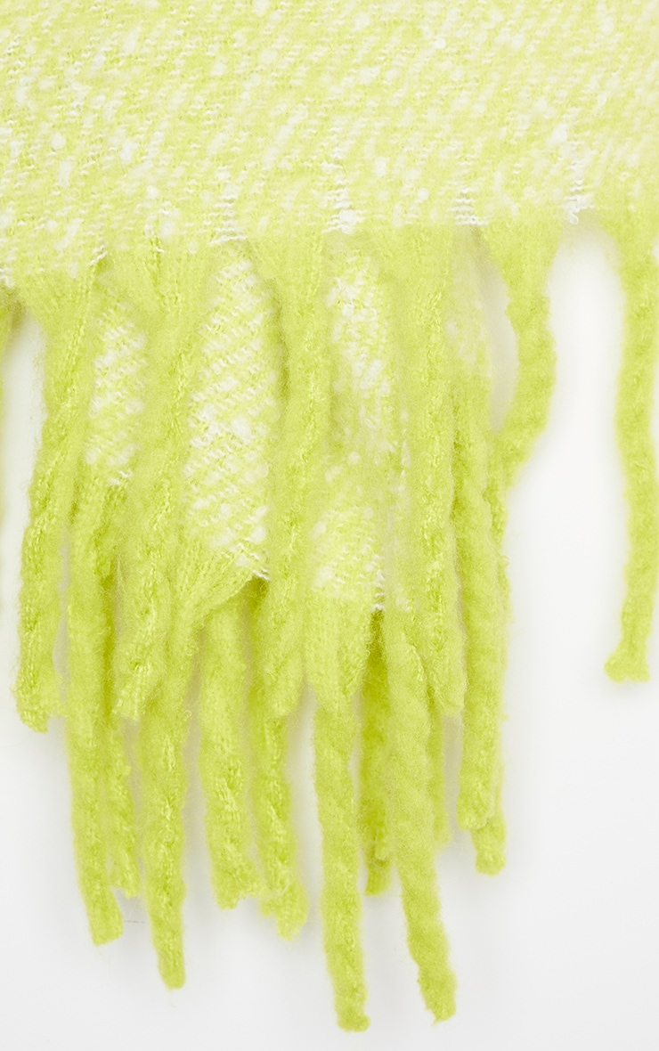Neon Lime Super Soft Mini Blanket Scarf 3