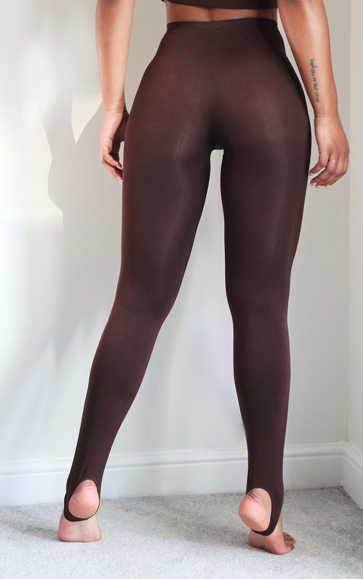 Chocolate Seamless Stirrup Leggings 3