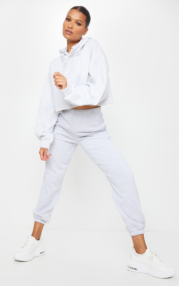Ash Grey Ultimate Oversized Crop Hoodie 3