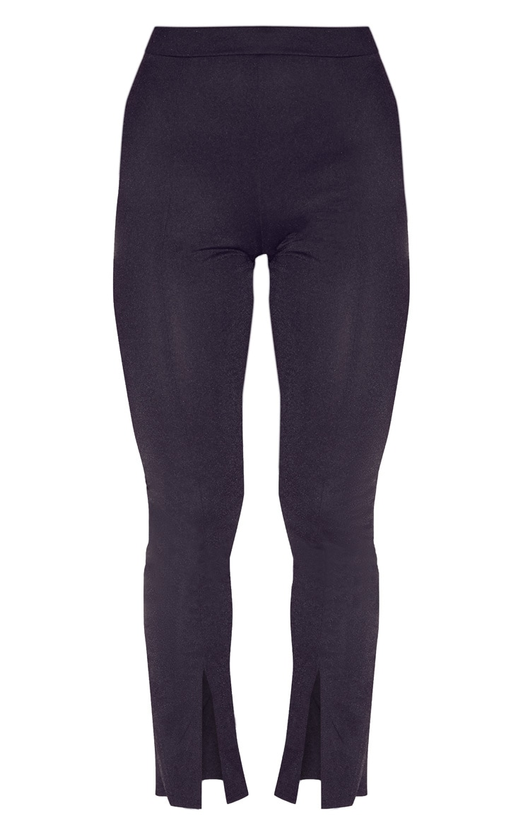 Black Split Hem Seam Detail Skinny Trouser 3