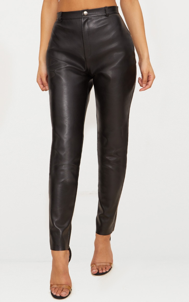 Black Faux Leather Skinny Trouser 2
