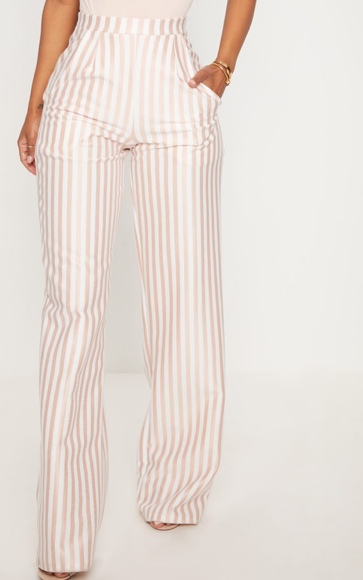 Shape White Striped Wide Leg Trousers 2