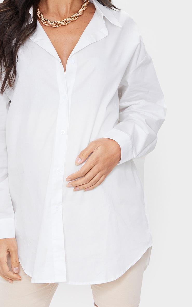 PLT Maternité - Chemise oversize blanche 4
