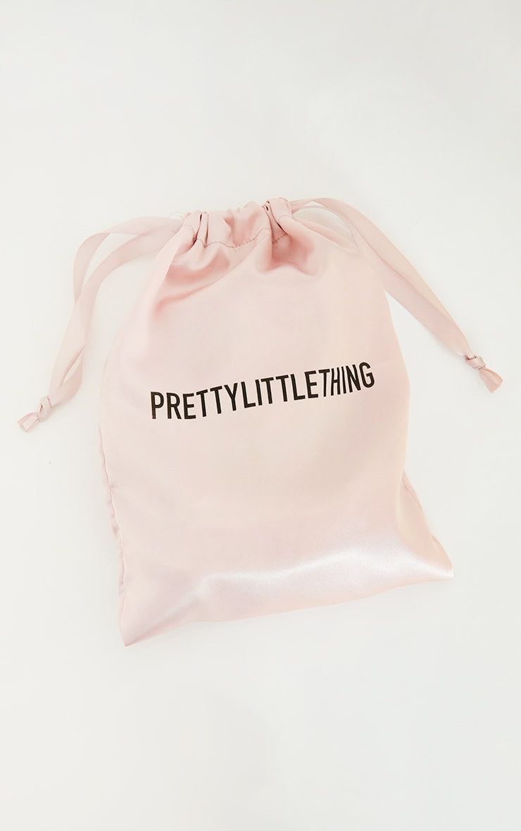 PRETTYLITTLETHING Pink Facial Roller with Sleep Mask & Satin Pillow Case Set 3
