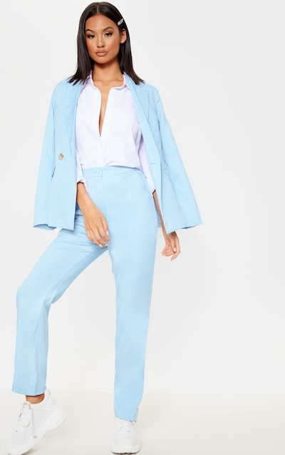 1de3a76a826 Baby Blue Straight Leg Suit Pants