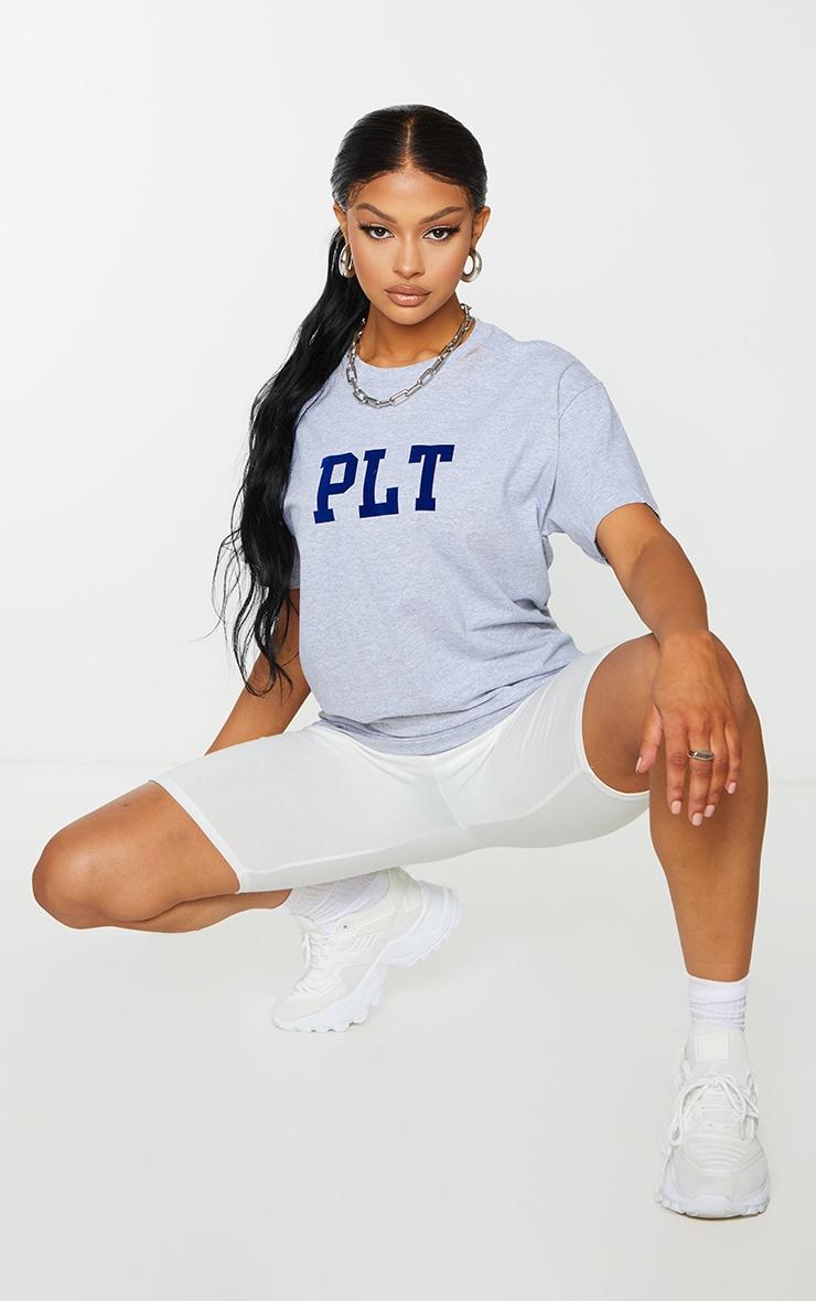 PRETTYLITTLETHING Grey Block Print T Shirt 3