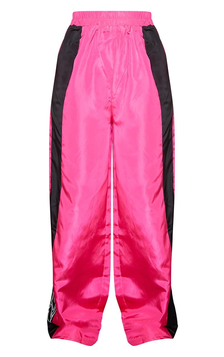 Petite Pink Nylon 1997 Straight Leg Sports Joggers 5