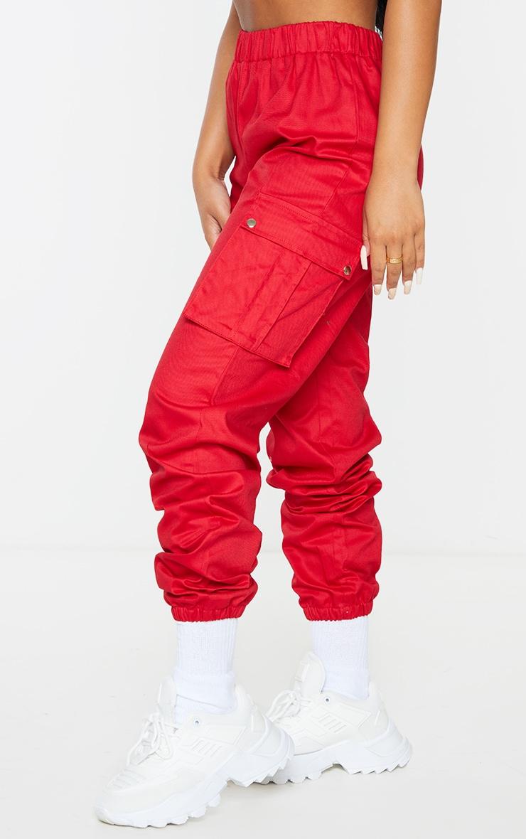Petite Red Pocket Detail Cargo Pants 2