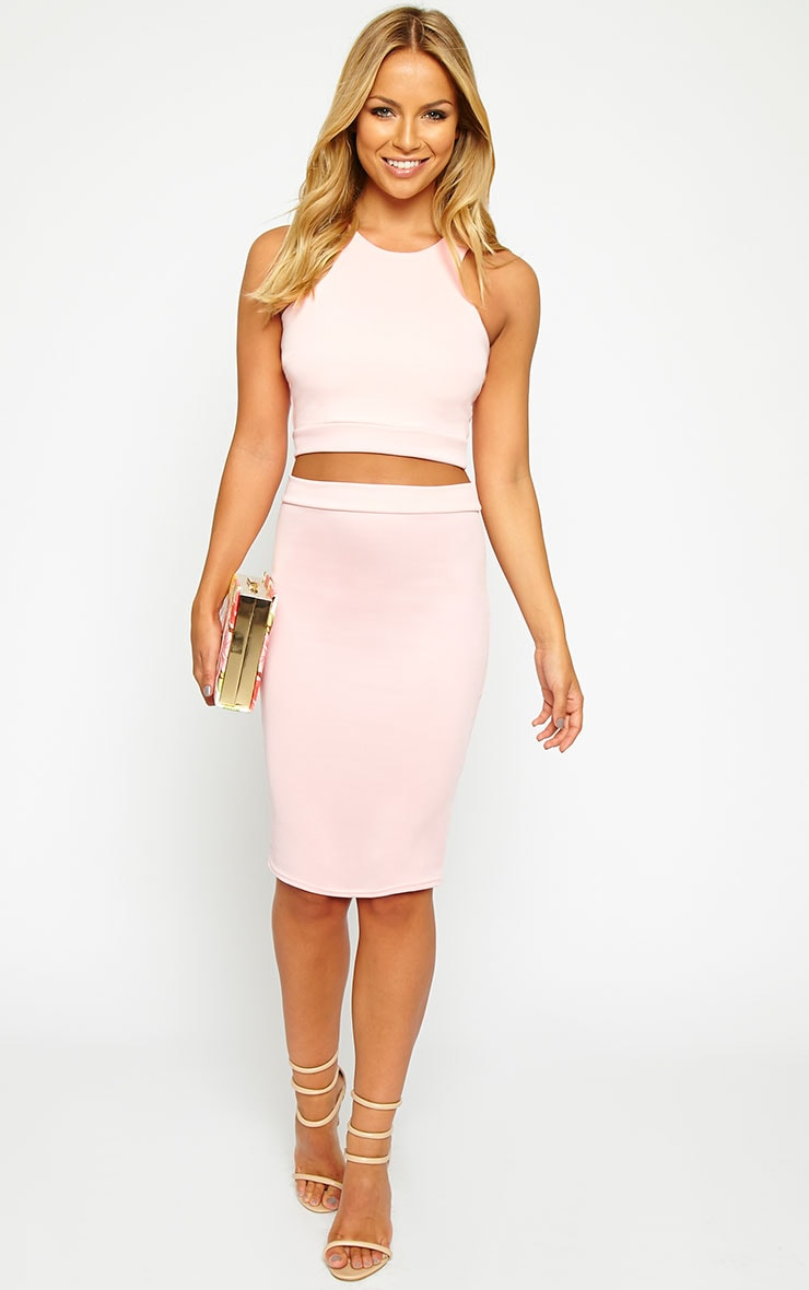 Janine Pink Sleeveless Crop Top 3